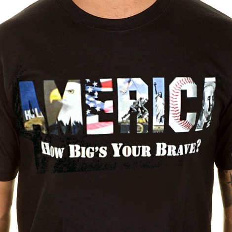 AMERICA How Big's Your Brave T-Shirt