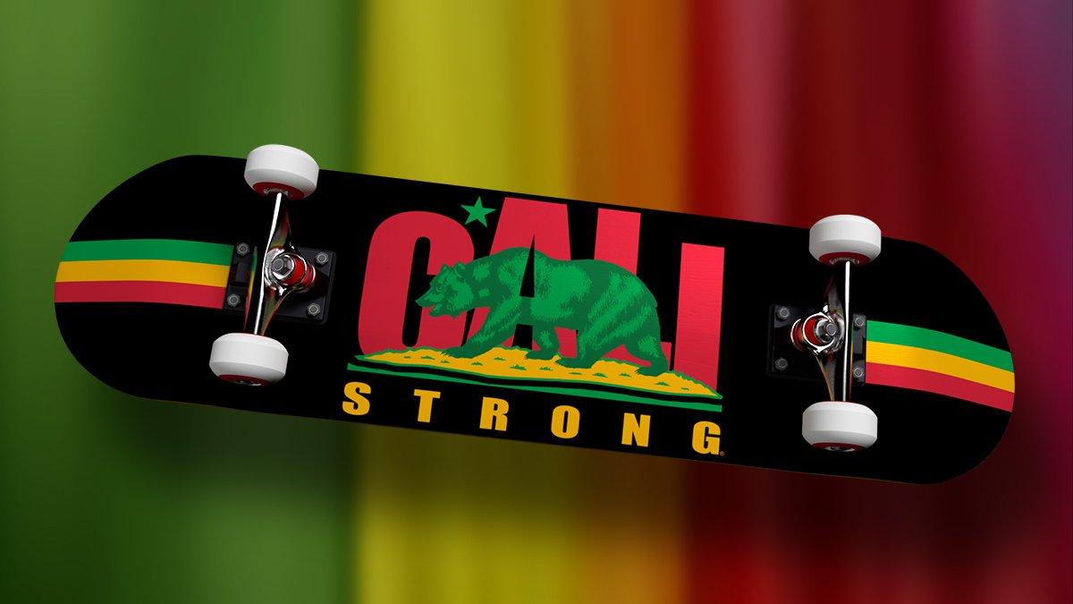 CALI Strong Rasta Skateboard