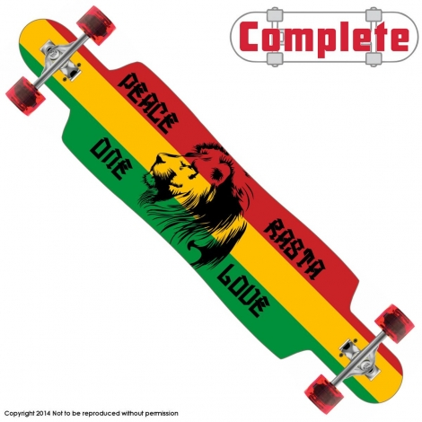 Freedom Rasta Longboard Drop Through Complete 9.5″ x 42.75″