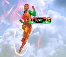 Rasta Skateboard Ambigram Superstar