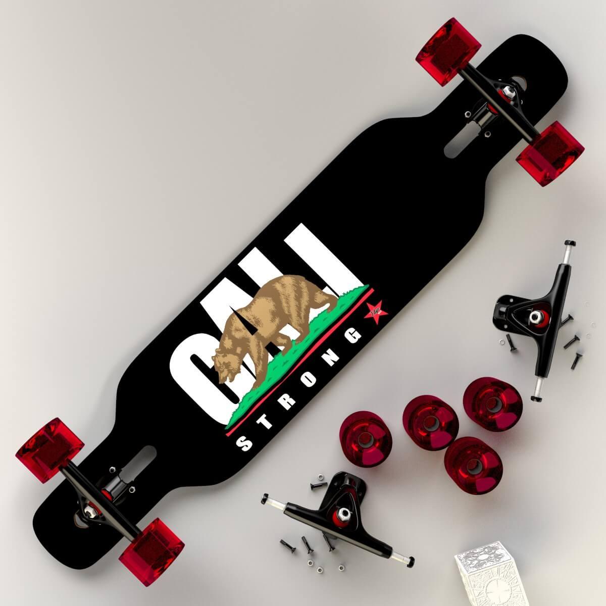 CALI Strong Longboard Assembled