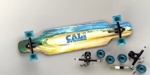 CALI Strong Wave State Longboard Drop Through Complete