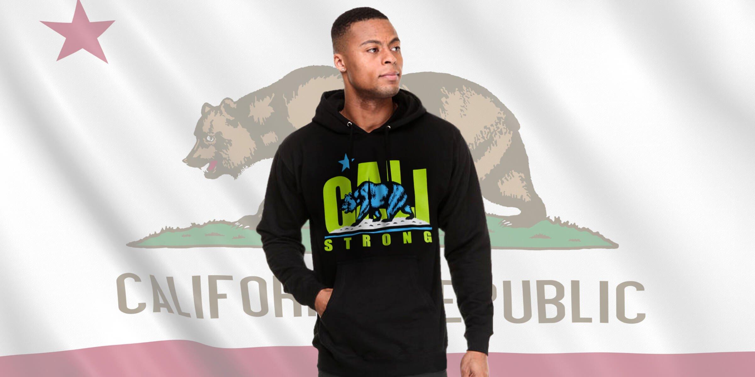 CALI Strong Lime Black Hoodie Sweatshirt