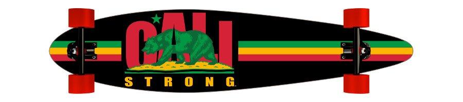 CALI Strong Rasta Longboard Pintail