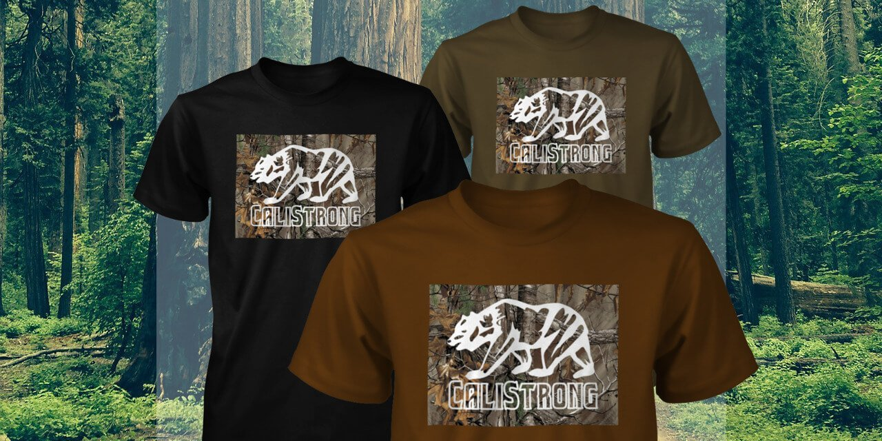 CALI Strong Tree Camo T-shirt