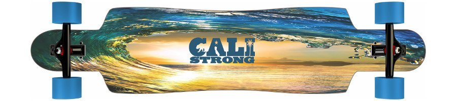 CALI Strong Wave State Drop Thru Longboard