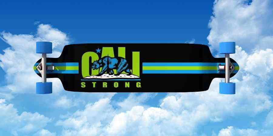 CALI Strong Lime Longboard Double Drop Through