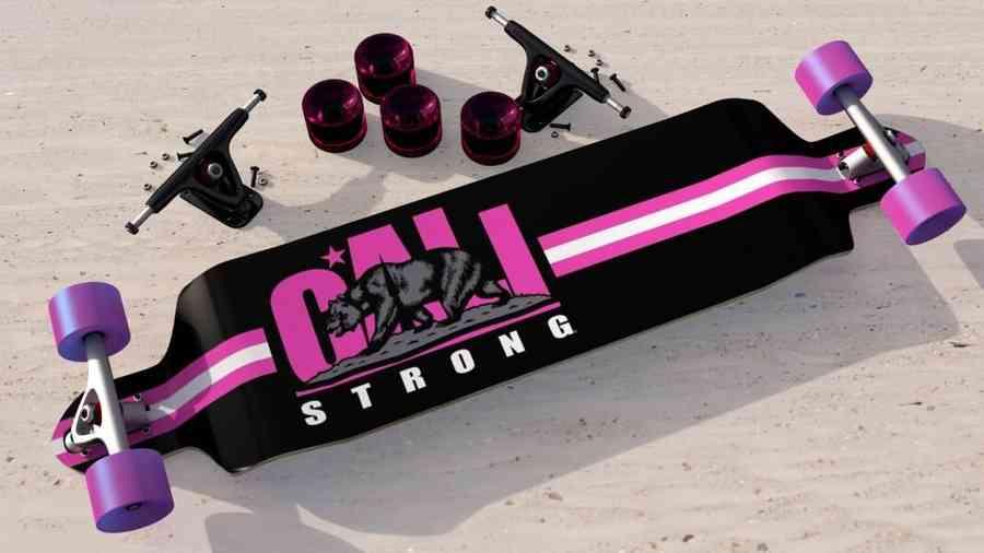 CALI Strong Fuchsia Longboard Double Drop