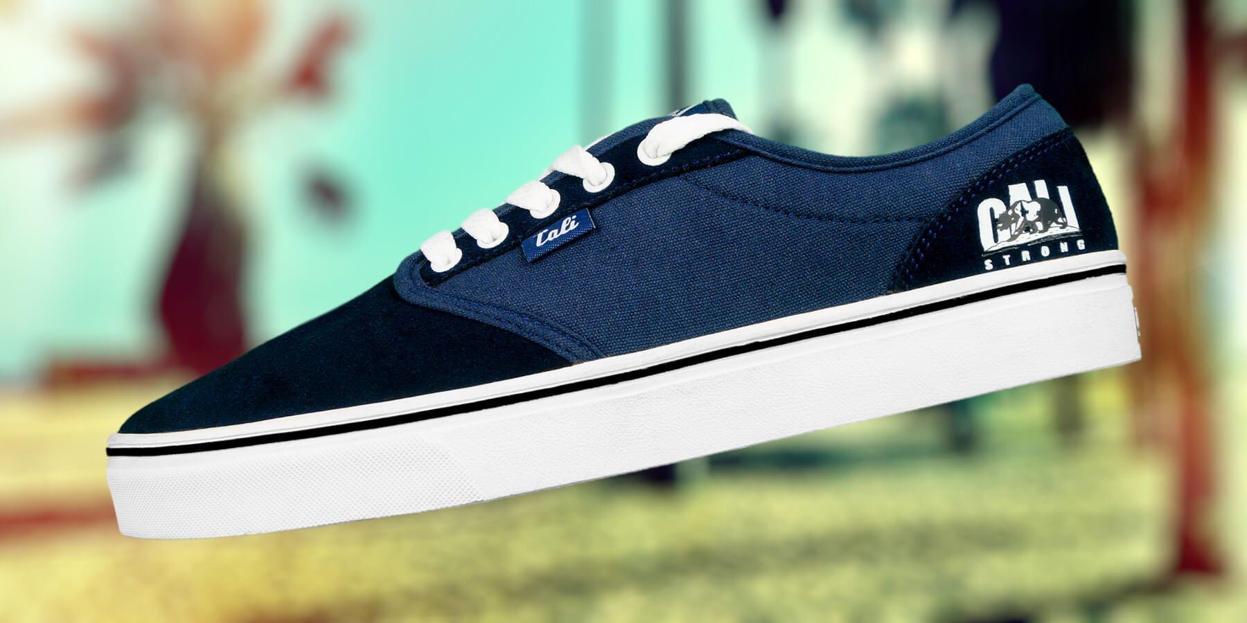 The CALI Strong OC Skate Shoe Navy White