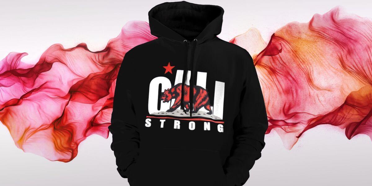 CALI Strong Original Red Hoodie Sweatshirt