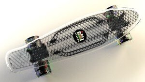 CALI Strong Clear Penny Board Style With LED Light Wheels Series