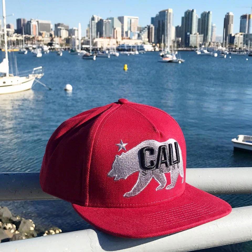 CALI Strong West Coast Flat Bill Snapback Cap