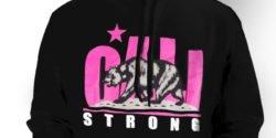 CALI Strong Fuschia Hoodie Zoom