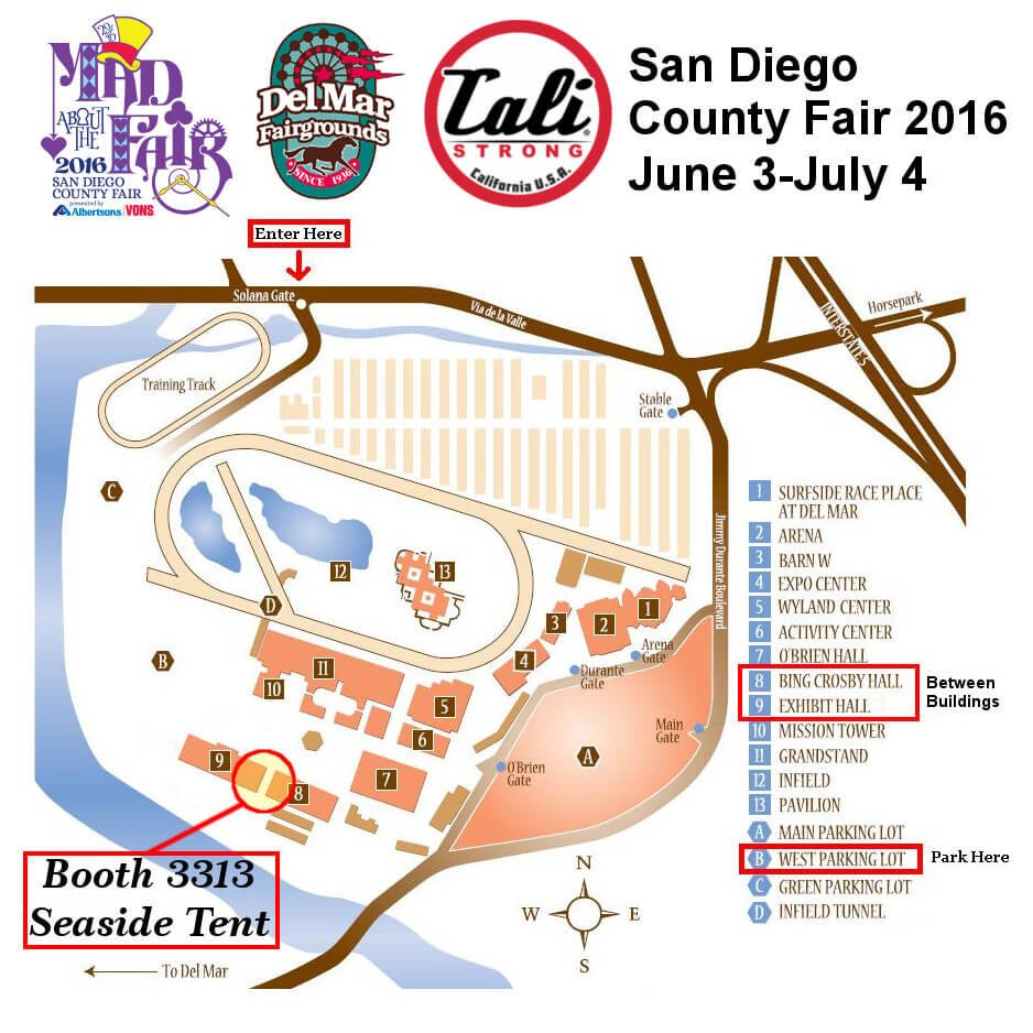 San Diego County Fair Del Mar Fairgrounds Map 2016