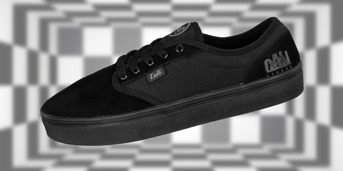 CALI Shoes: CALI Strong OC Skate Shoe Black Black