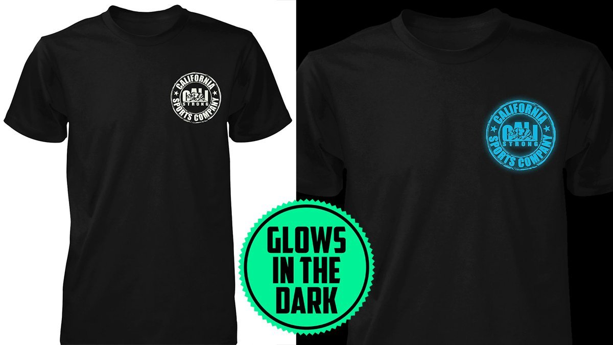CSC BLUE GLOW T SHIRT BLACK