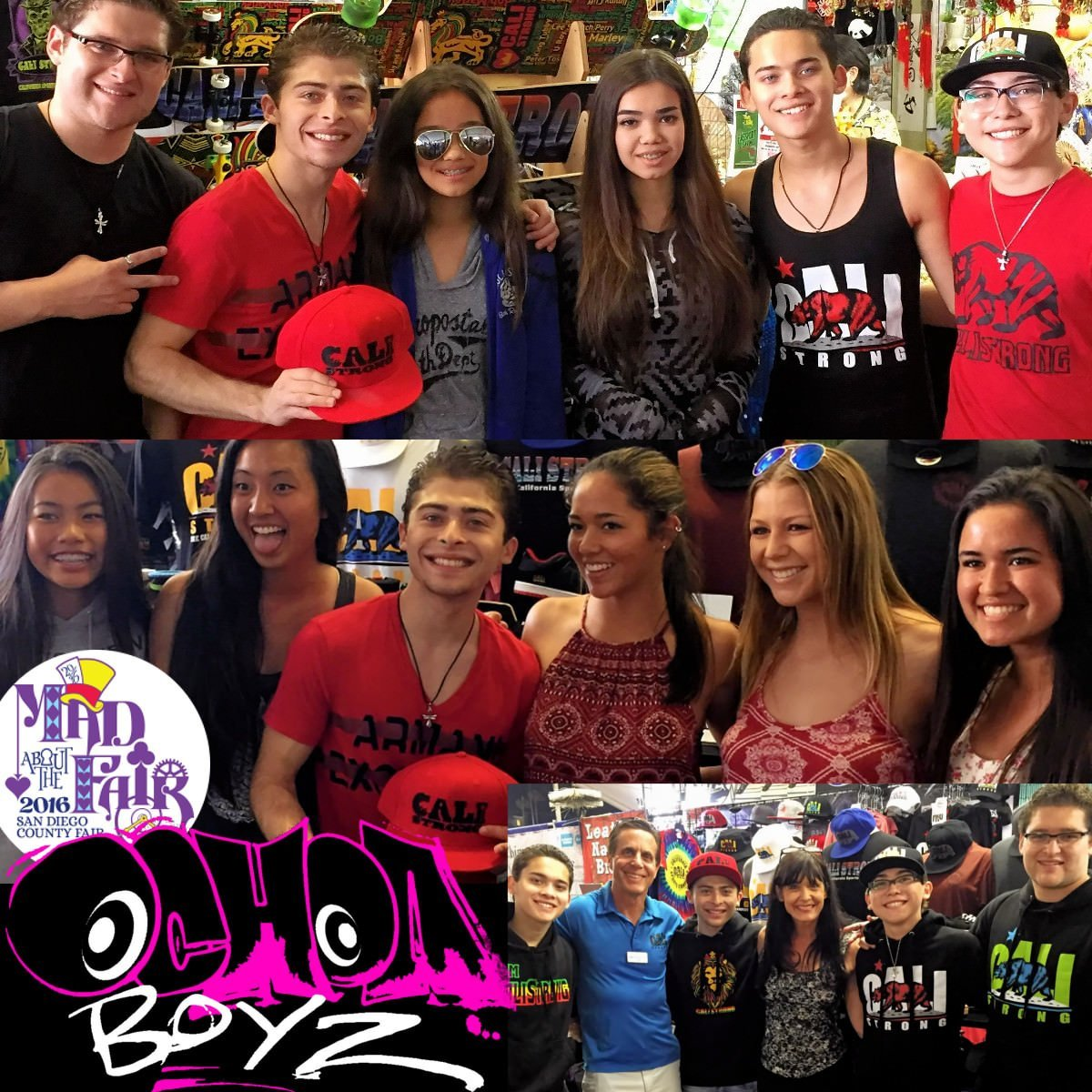Ochoa Boyz fans stormed CALI Strong during the boyz visit at the San Diego County Fair this week! @ryanochoa, @robertochoa125, @rickochoa21 & @raymondochoa12 were lit!