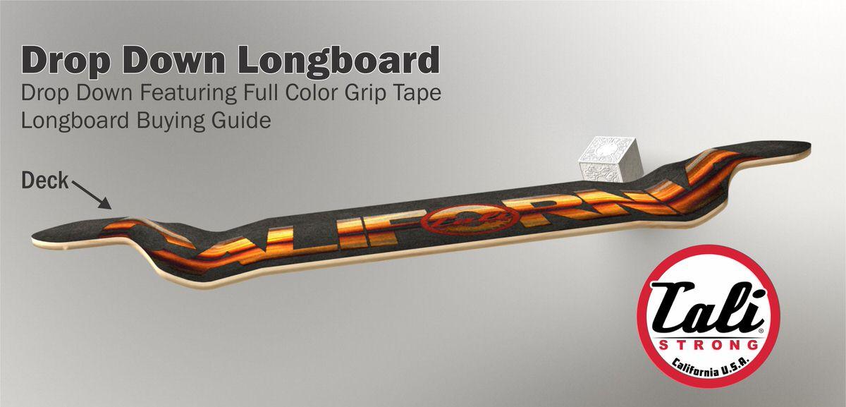 Drop Down Longboard Diagram Featuring Full Color Grip Tape