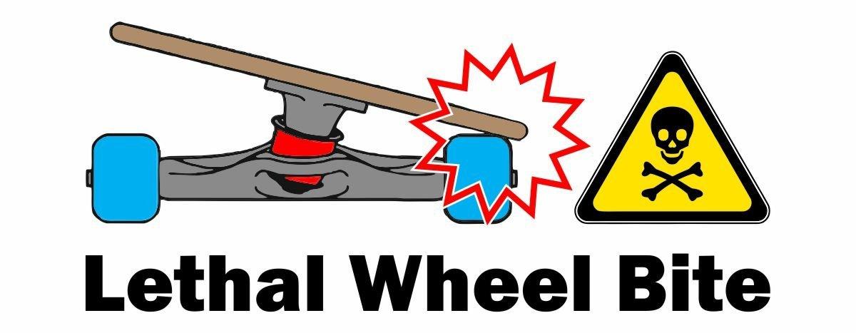 What is Wheel Bite Longboard Diagram