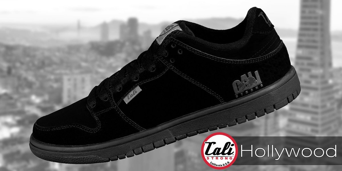 CALI Strong Hollywood Skate Shoe All Black