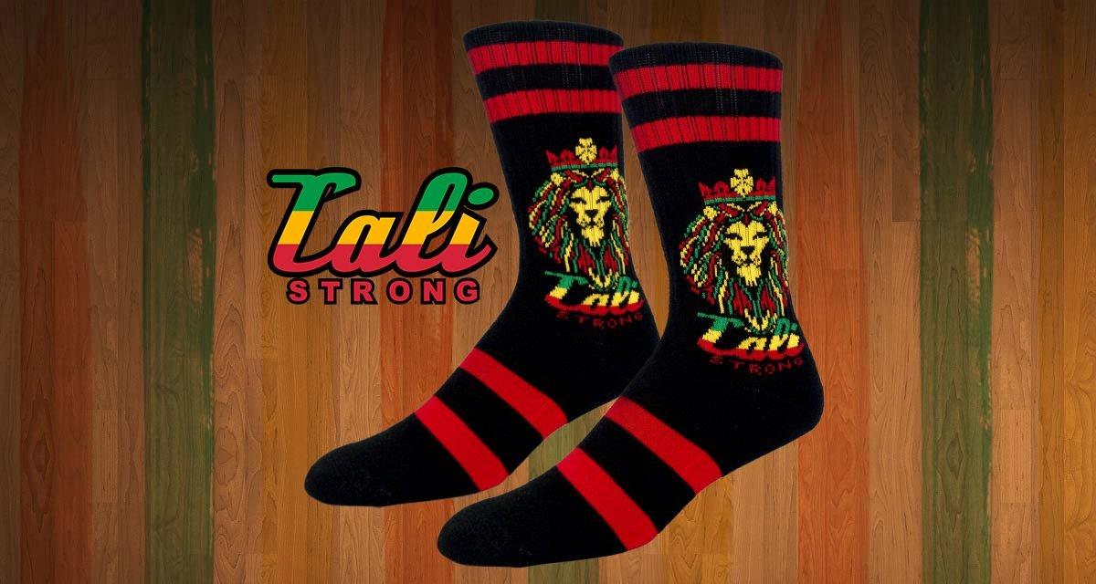 CALI Strong King Rasta Crew Socks