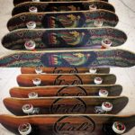 CALI Strong Rasta Wood Skateboard Trick