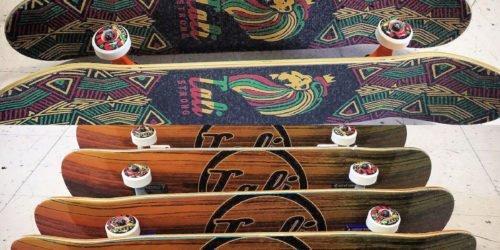 CALI Strong Wood Rasta Skateboard Trick