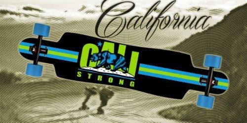 CALI Strong Original Lime Longboard Drop Through