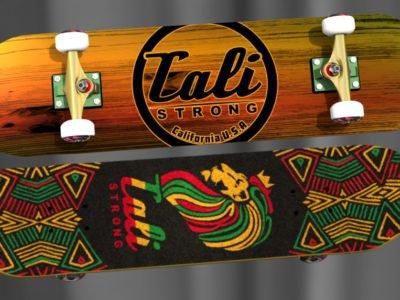 Wood Rasta Skateboard From CALI Strong