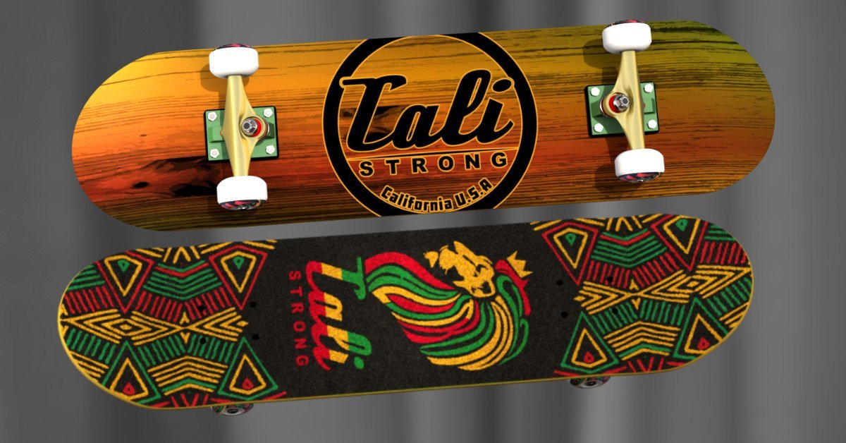 Wood Rasta Skateboard From CALI Strong