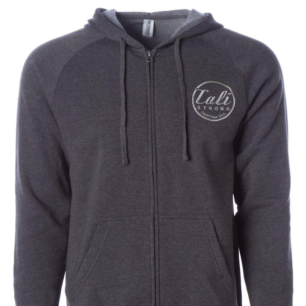 CALI Classic Zip Hoodie Carbon