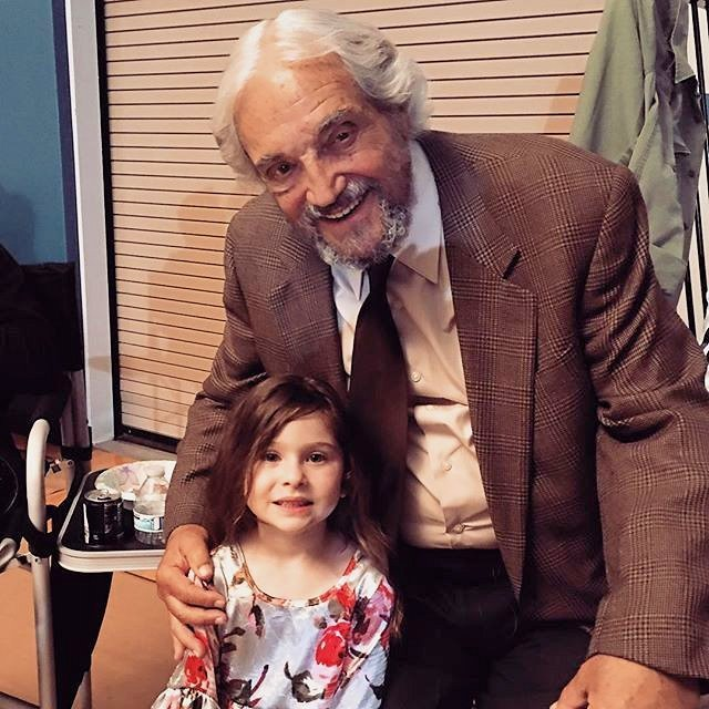 """Destiny Ochoa with American TV Legend and Emmy Winner Hal Linden on the set of the movie """"The Samuel Project"""""""