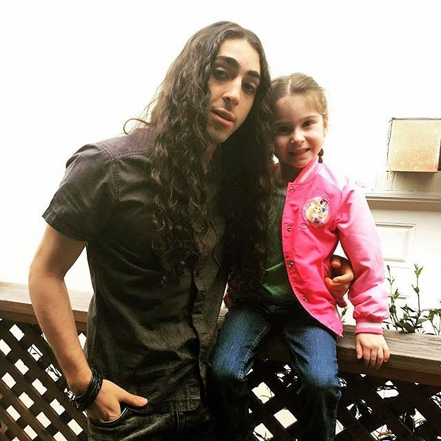 """Destiny Ochoa with actor Mateo Arias , Disney star of """"Kickin' It,"""" on the set of the movie """"The Samuel Project"""""""