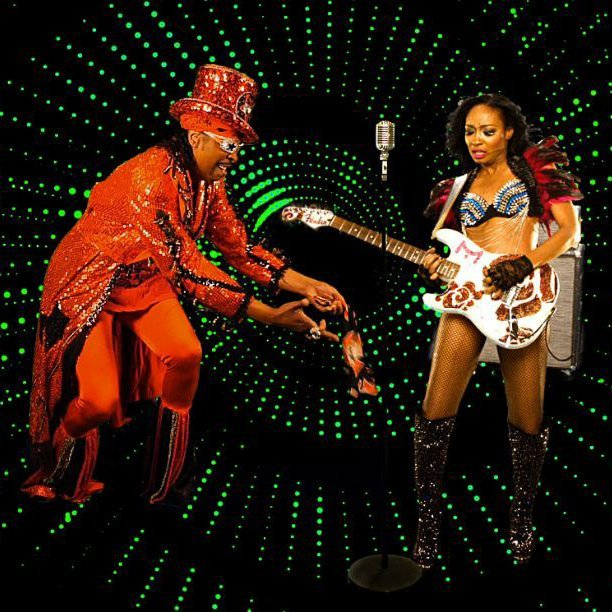 Malina Moye performing her song K-yotic featuring Bootsy Collins.