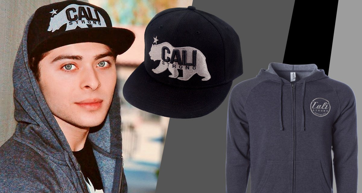 Ryan Ochoa Wearing CALI Strong West Coast Flat Bill & CALI Classic Zip Hoodie