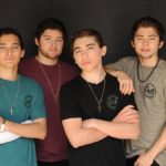Ochoa Boyz Sporting CALI Strong's Hit Heather T-shirt Line At Photo Shoot