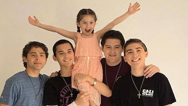 Destiny Ochoa with her brothers The Ochoa Boyz!