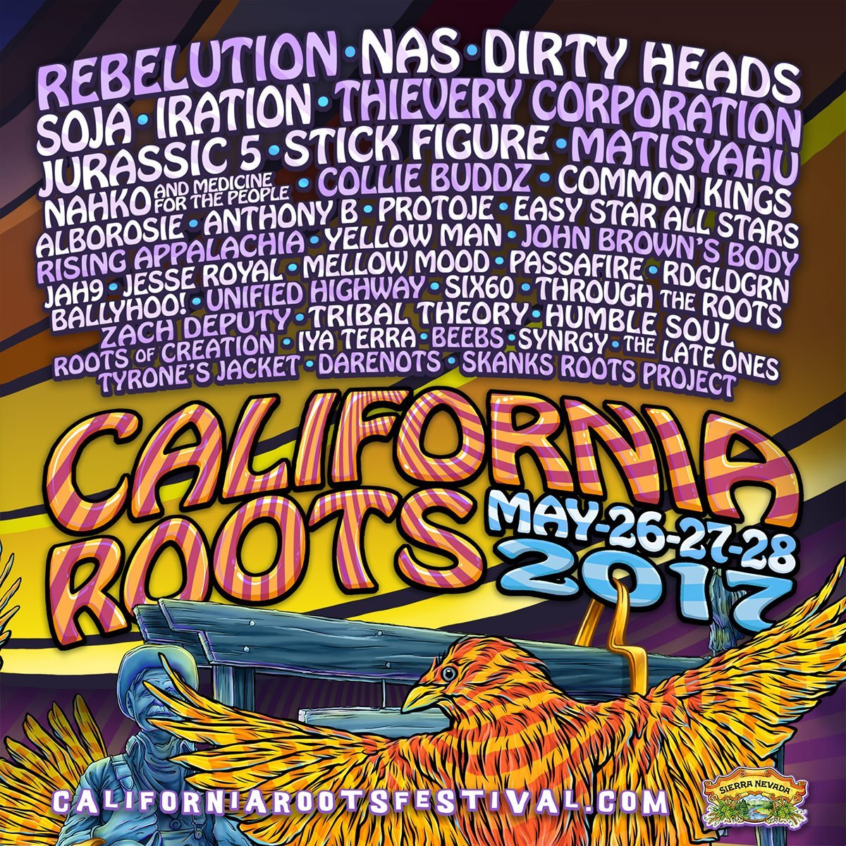 California Roots Festival May 26-28th 2017