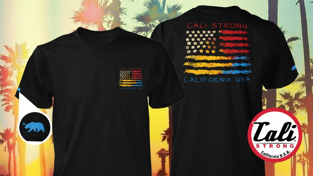 CALI USA T Shirt Black