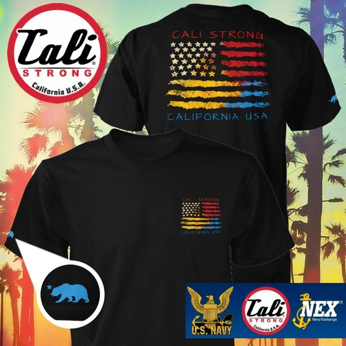 CALI USA T-shirt Black available now at The Navy Exchange