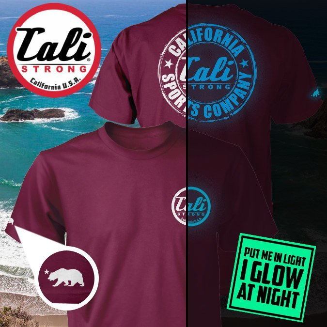 CSC Classic Glow In The Dark T-shirt Burgundy