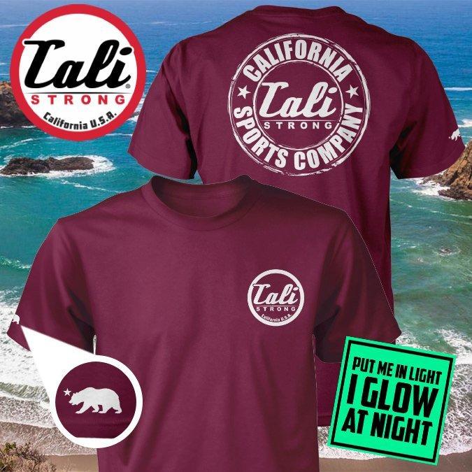 CSC Classic Glow In The Dark T-shirt Burgundy