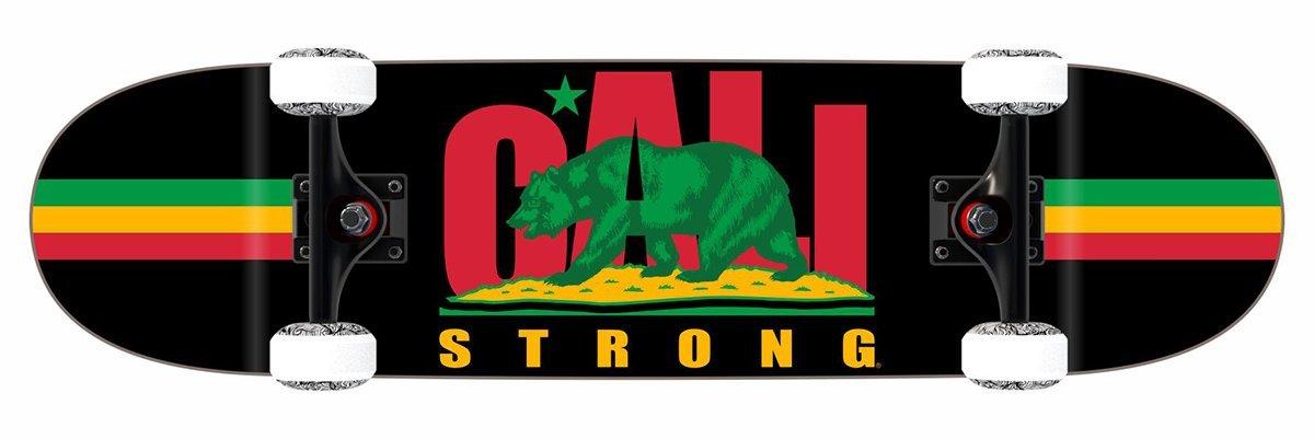 CALI Strong Original Rasta Skateboard Trick