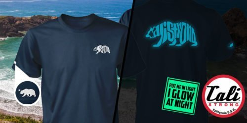 CALI Strong Word Bear Deluxe Glow In The Dark T-shirt
