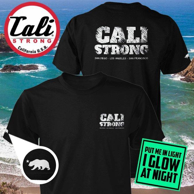 CALI Strong Block Glow T-shirt Black