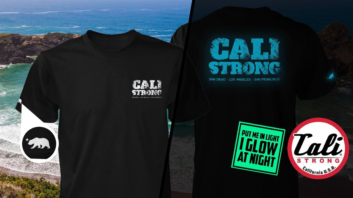 CALI Strong Block Glow In The Dark T-Shirt: Cool T-Shirts Of The Future