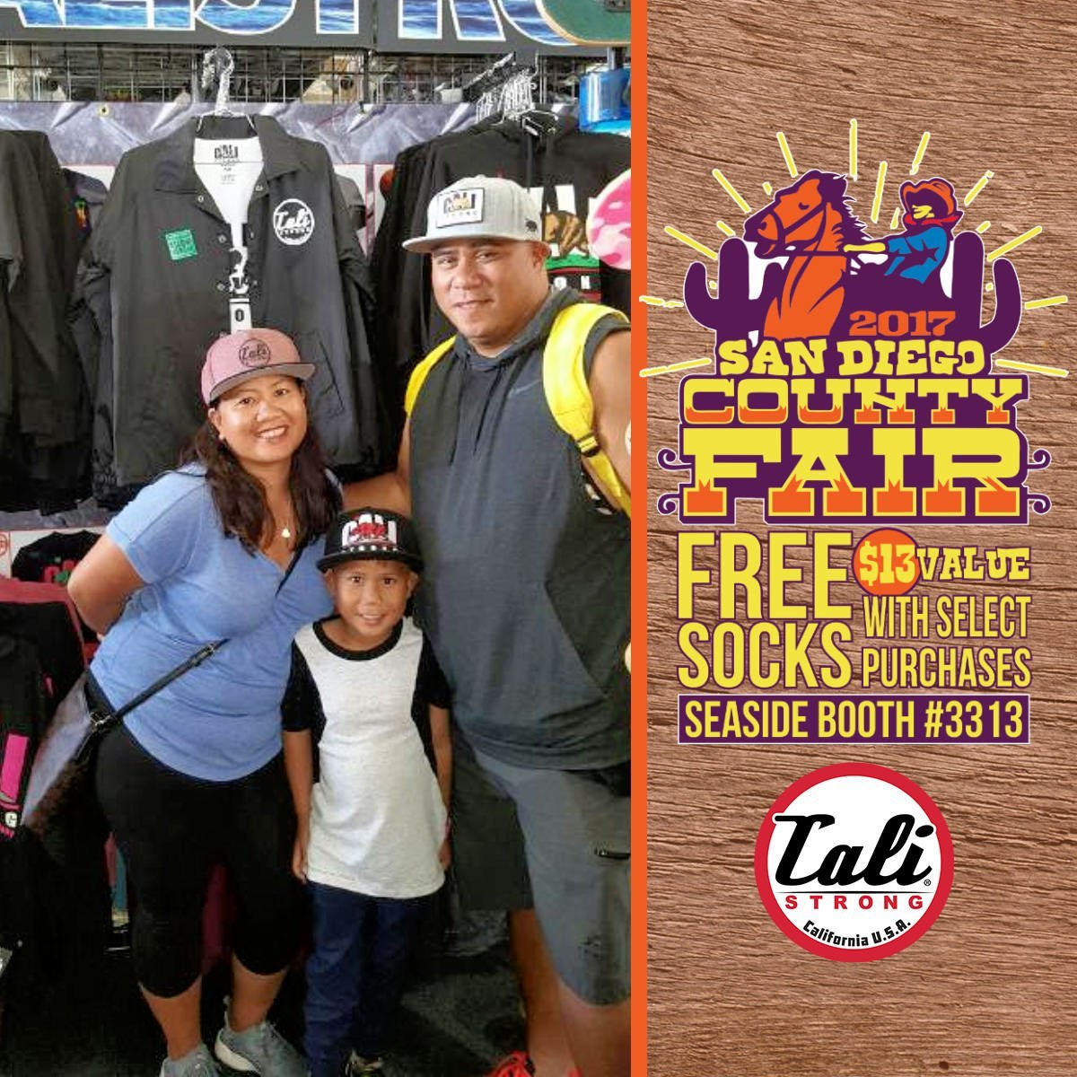 The family that wears hats together, stays together at the San Diego County Fair Seaside Tent Booth 3313!