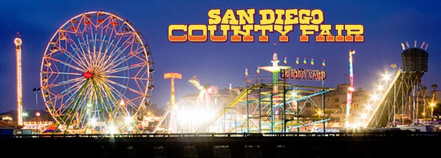 Del Mar Fairgrounds at night for the San Diego County Fair