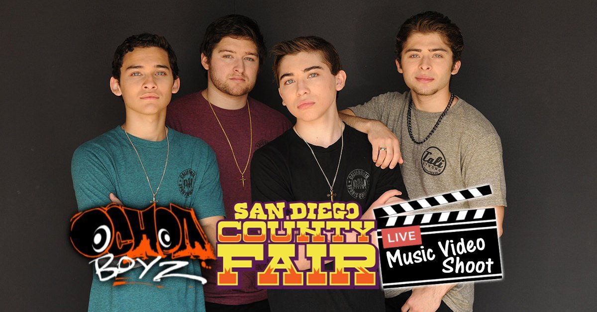 Ochoa Boyz Music Video Shoot At San Diego County Fair In CALI Strong's Booth!