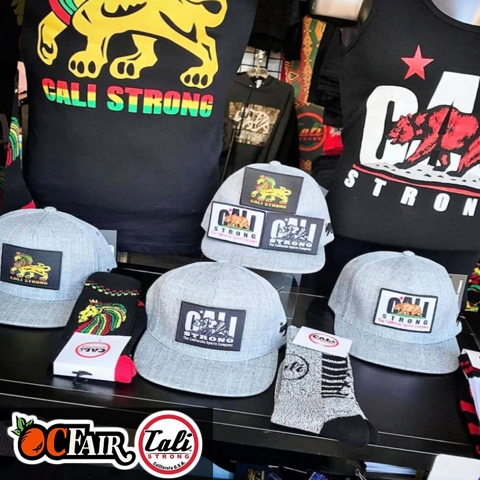 Exclusively at the OC Fair! Same CALI Strong patch hat with three different looks. Featuring removable Velcro patches. Collect all our tactical hat moral patches.